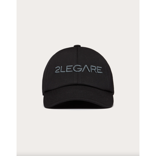 2LEGARE Logo Embroidery Cap - Black/Grey