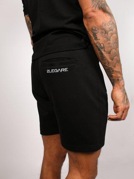 2LEGARE Embroidery Short - Black/White