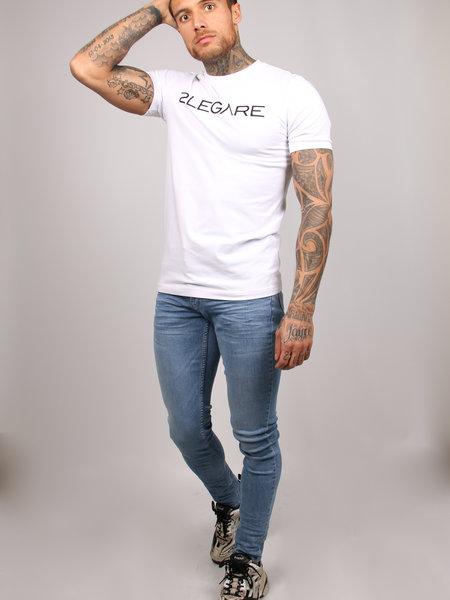 2LEGARE Embroidery T-Shirt - White/Black