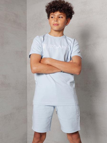 Kids Embroidery T-Shirt - Light Blue