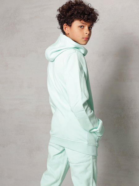 2LEGARE Kids Embroidery Jogger - Mint/White