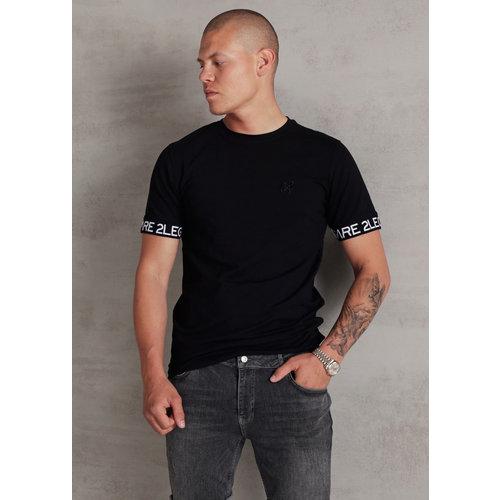 2LEGARE Logo Sleeve Tee - Black