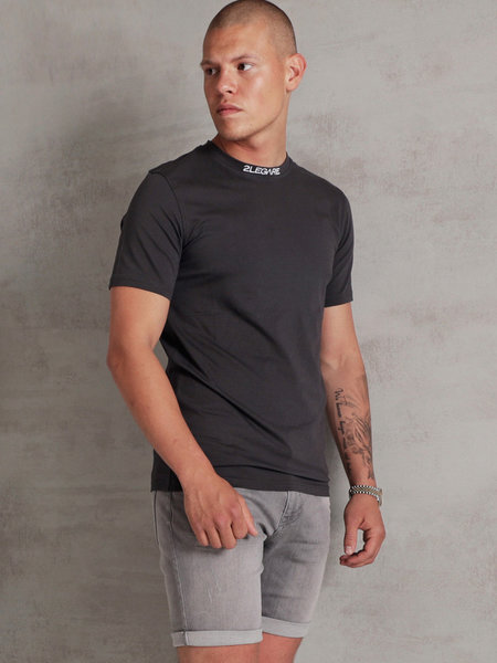 Logo Collar Tee - Dark Grey