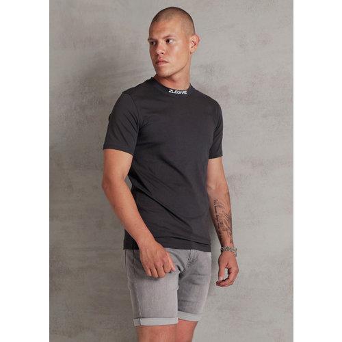 2LEGARE Logo Collar T-Shirt - Dark Grey