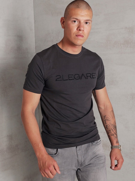 Embroidery T-Shirt - Antra/Black