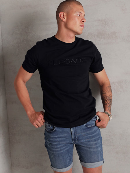 Embroidery T-Shirt - Navy/Black