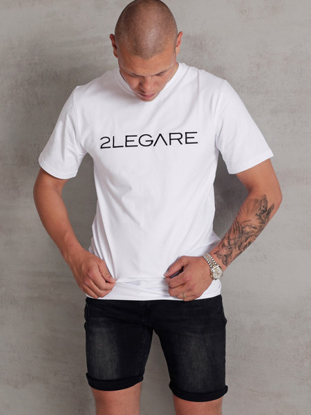 Embroidery T-Shirt - White/Black