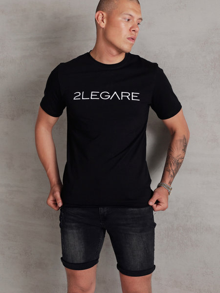 Embroidery T-Shirt - Black/White