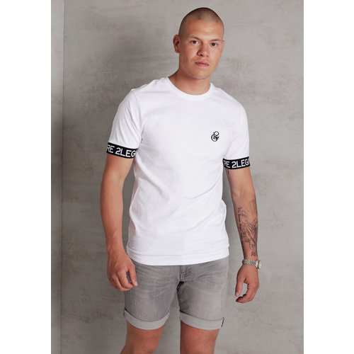 2LEGARE Logo Sleeve T-Shirt - White