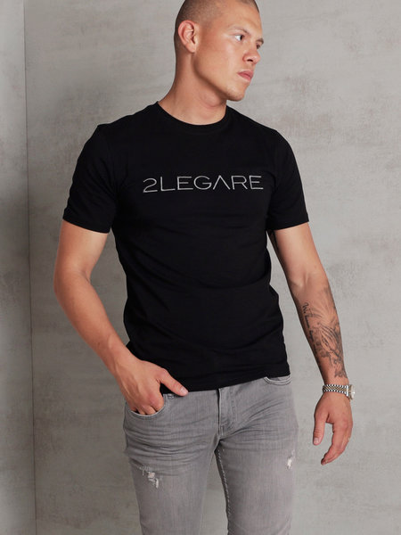 Embroidery T-Shirt - Black/Antra
