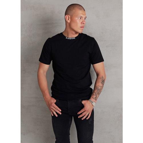 2LEGARE Logo Collar Tee - Black