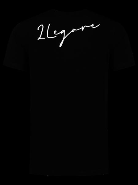 2LEGARE Embroidery Signature T-Shirt - Black/White