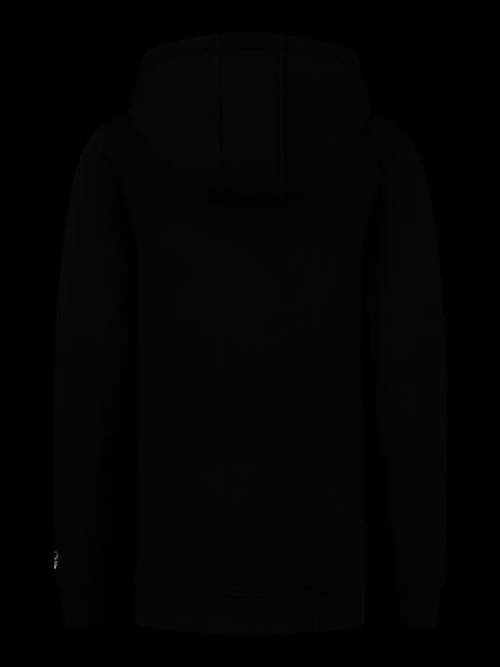 2LEGARE Kids Zip Logo Hoodie - Black/White