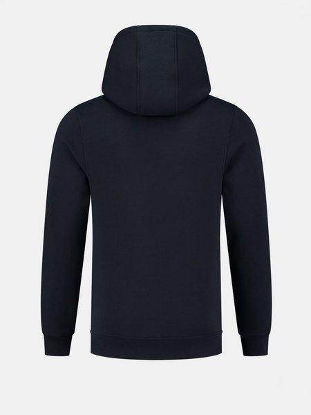2LEGARE Logo Embroidery Hoodie - Navy/Black