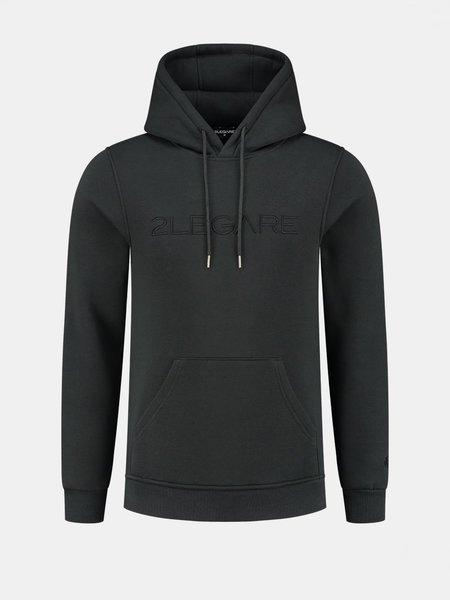 Logo Embroidery Hoodie - Antra/Black
