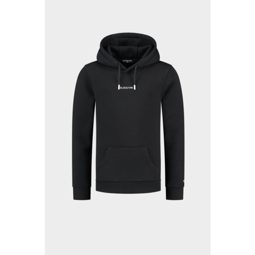 2LEGARE Kids Embroidery Small Logo Hoodie - Black/White