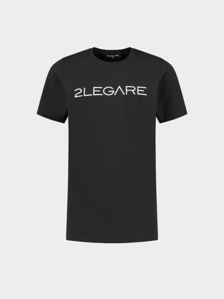 Kids Embroidery T-Shirt - Black/White