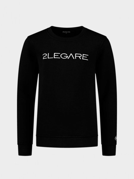 Kids Embroidery Sweater - Black/White