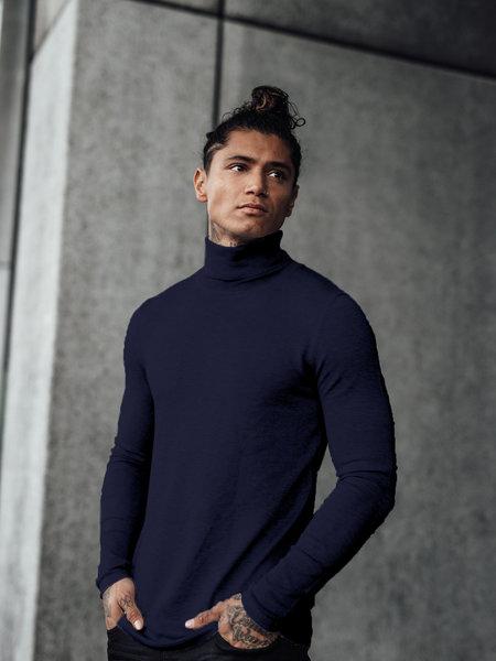 Turtleneck Knitwear - Navy