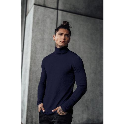 2LEGARE Turtleneck Knitwear - Navy