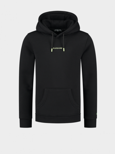 Kids Embroidery Small Logo Hoodie - Black/Yellow
