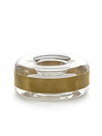 Theelichthouder met koperen ring
