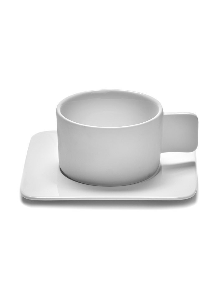 Schotel cappuccino wit porselein Heii
