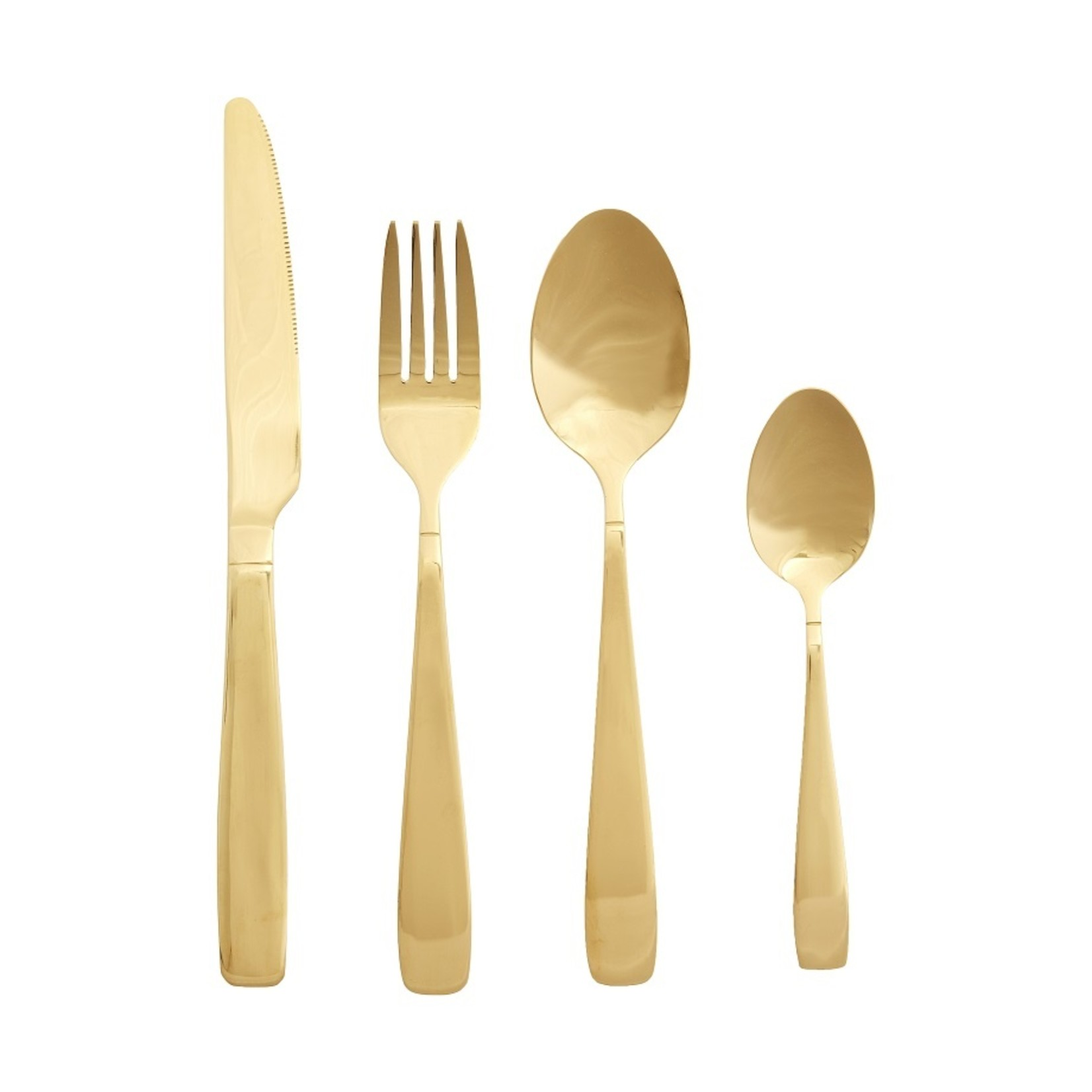 Hübsch Gouden bestek - set van 16st