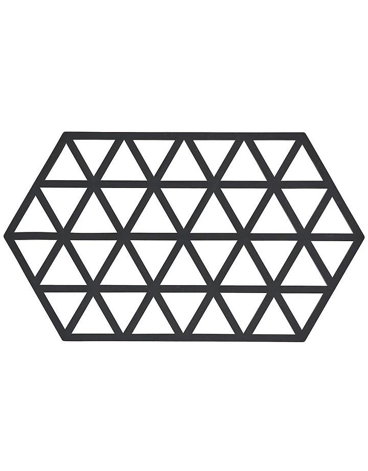 Siliconen onderzetter - Zwart - M