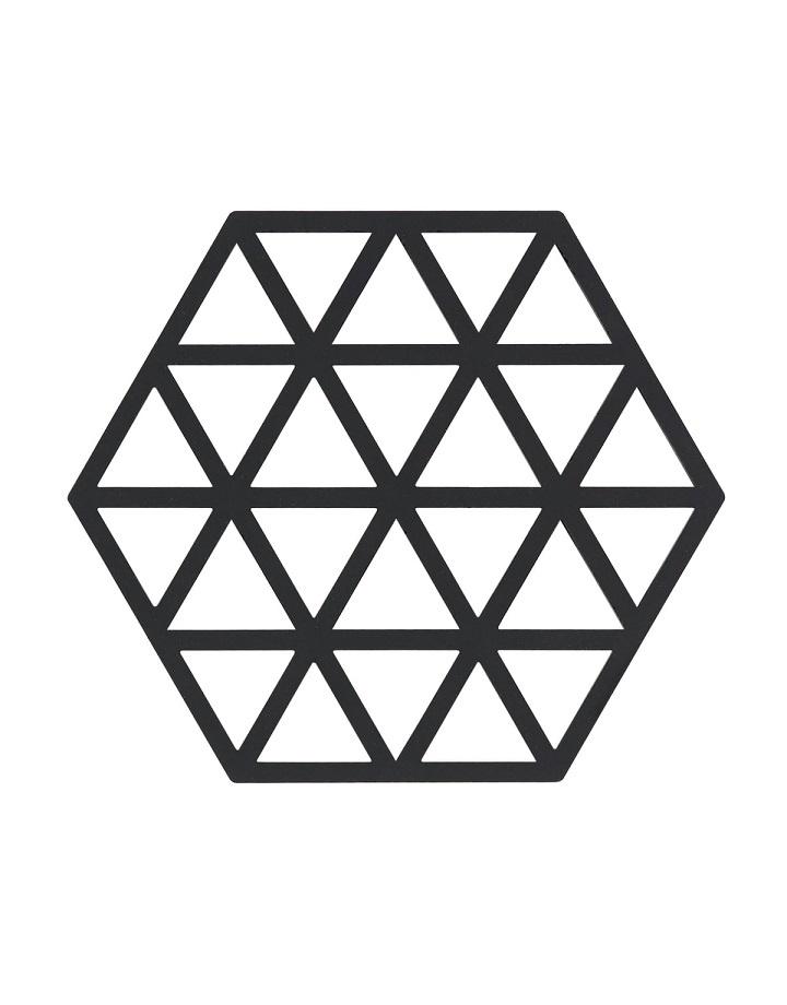 Siliconen onderzetter - Zwart - S