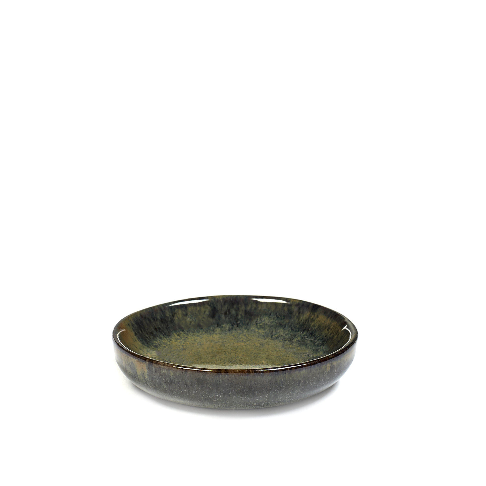 SERAX SMALL PLATE FOR OLIVES S CAMO INDI GREY SURFACE