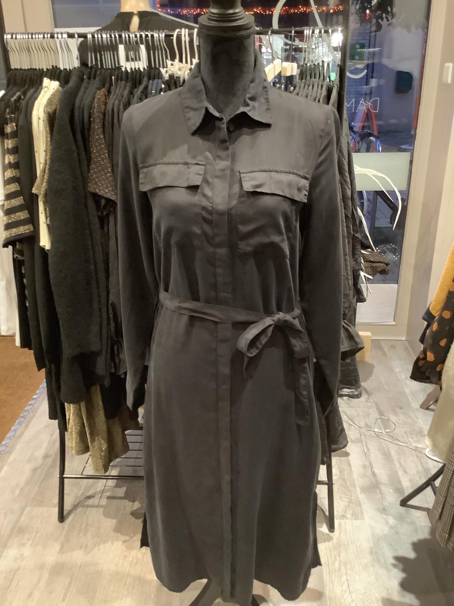 OBJECT Object - objmani l/s dress black
