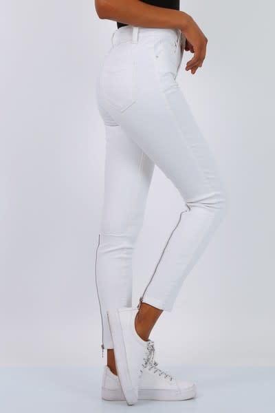 Toxic Toxic - witte jeans met rits