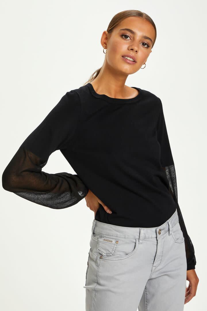 CREAM CREAM - crsissal knit pullover