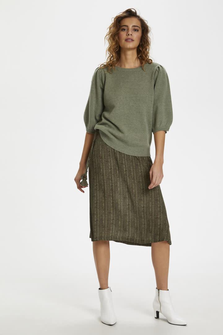 CREAM CREAM - delacr knit blouse