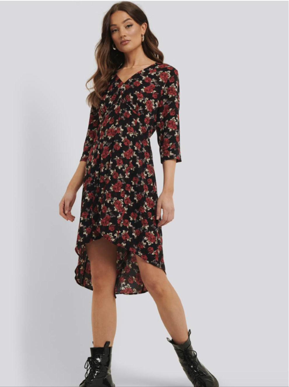 RUTH & CIRCLE RUTH & CIRCLE - lilly dress red flowers