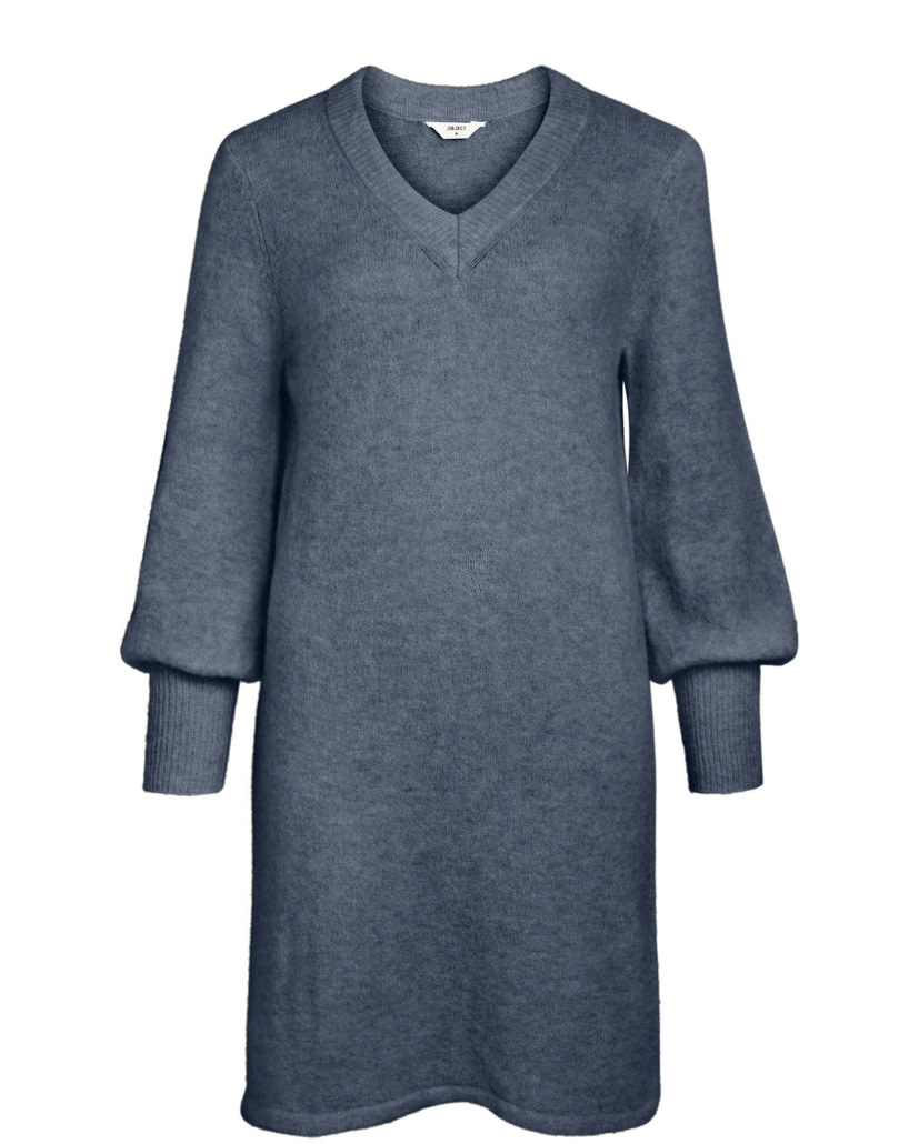 OBJECT OBJECT - objnete v-neck l/s dress