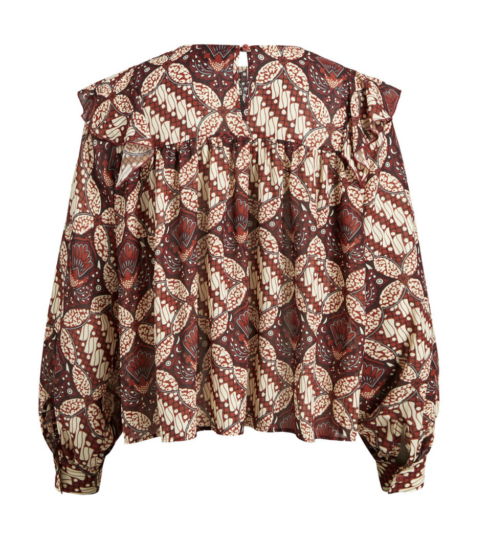 OBJECT OBJECT - objgriva l/s blouse