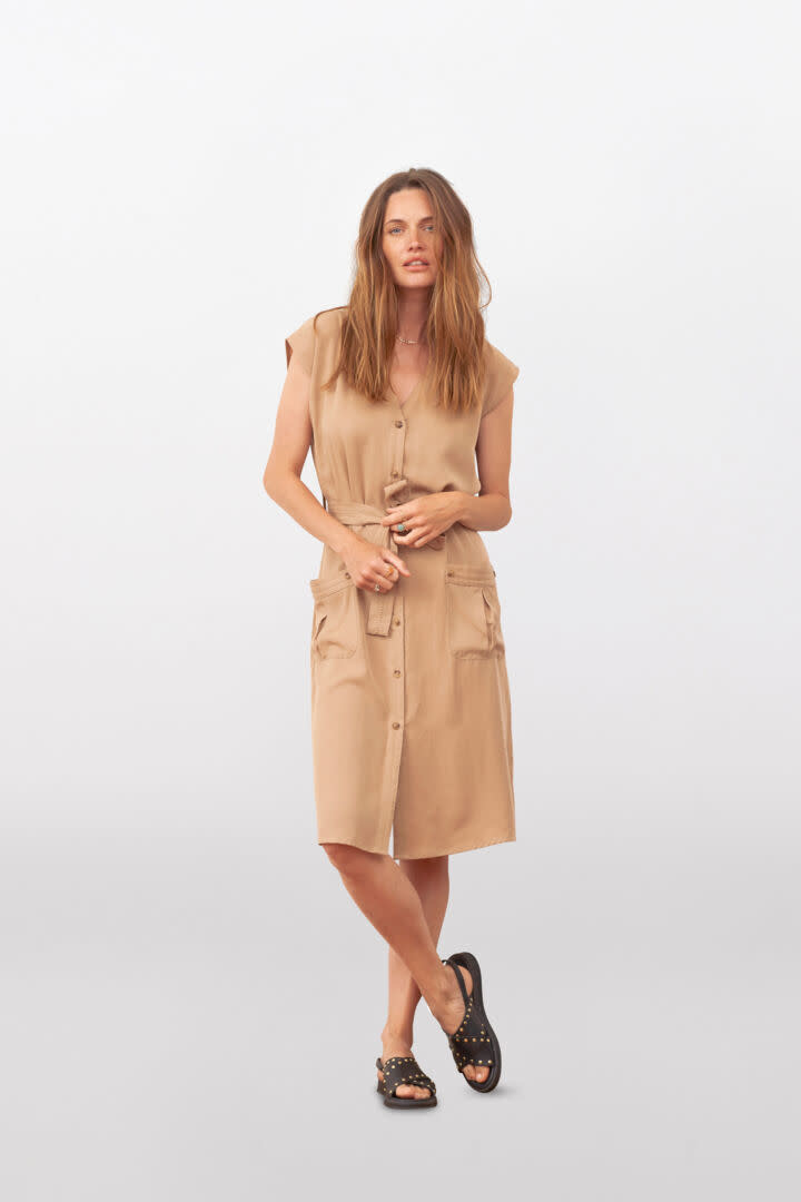 CREAM CREAM - croda waiscoat dress LY