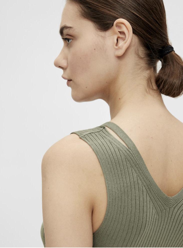 OBJECT OBJECT - objrosalia knit tank - groen