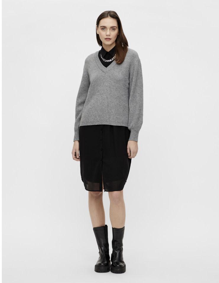 OBJECT OBJECT - objmalena l/s knit pullover noos - grijs