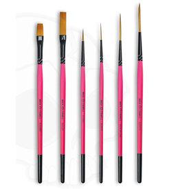 Mack Brushes Series M/T-BP - Broken Pinkies 6 Brush Set