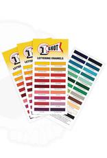 1 Shot 1 Shot Lettering Enamels Color Chart