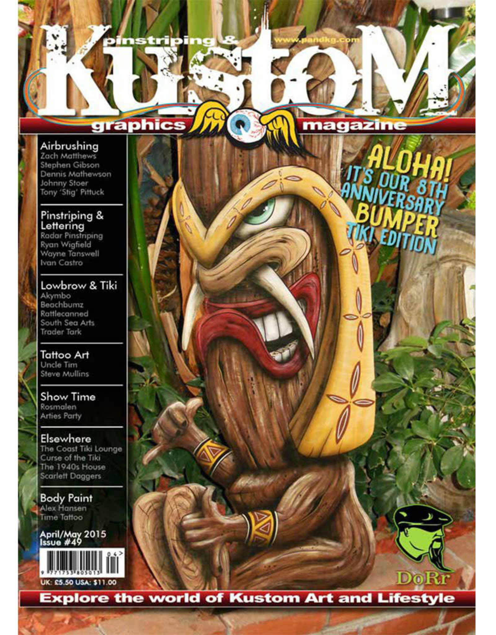 Pinstriping & Kustom graphics magazine Pinstriping & Kustom graphics magazine #49