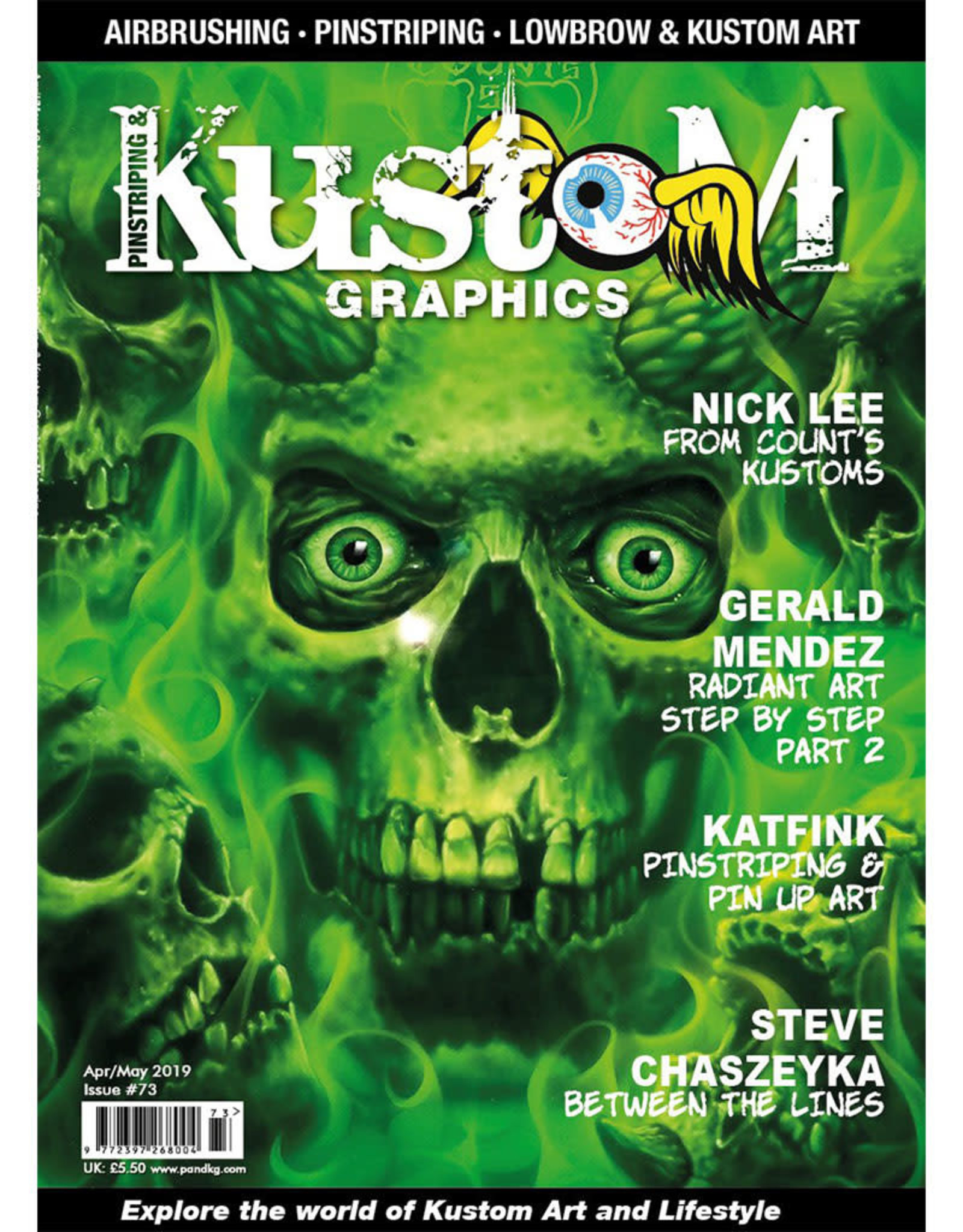 Pinstriping & Kustom graphics magazine Pinstriping & Kustom Graphics magazine #73