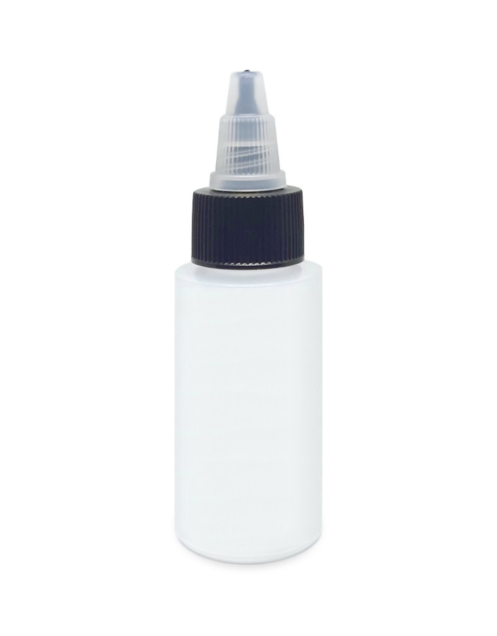 Harder & Steenbeck Harder & Steenbeck Plastic Bottle 30 ml, with lid and shake-stone - Solvent Resistent
