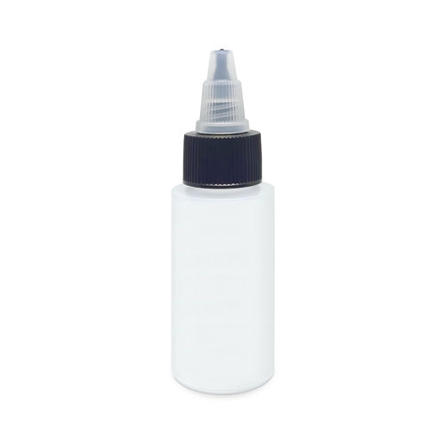 Harder & Steenbeck Harder & Steenbeck Plastic Bottle 30 ml with lid and shake-stone - Solvent Resistent