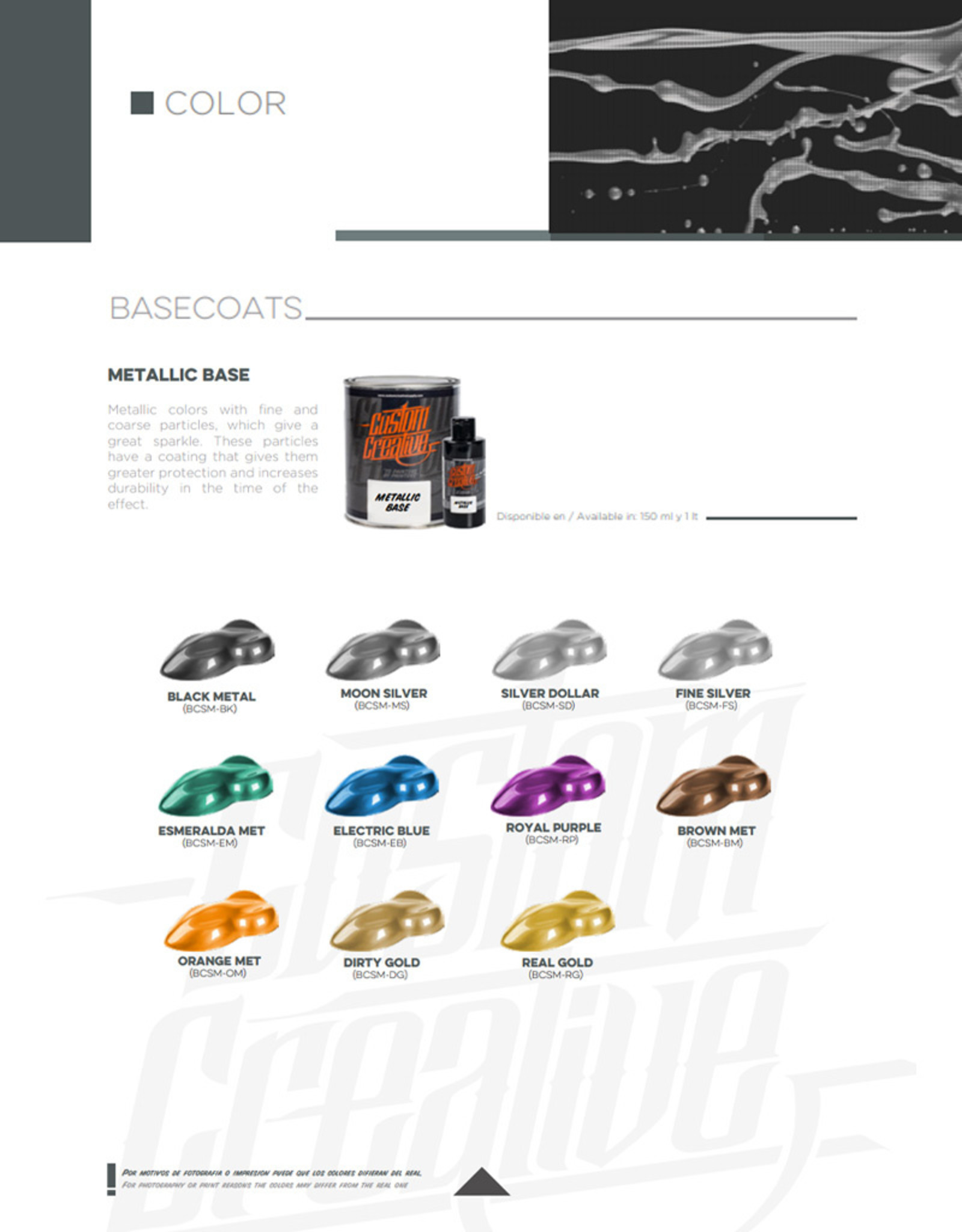 Custom Creative Custom Creative Base Color Metallic - Fine Silver
