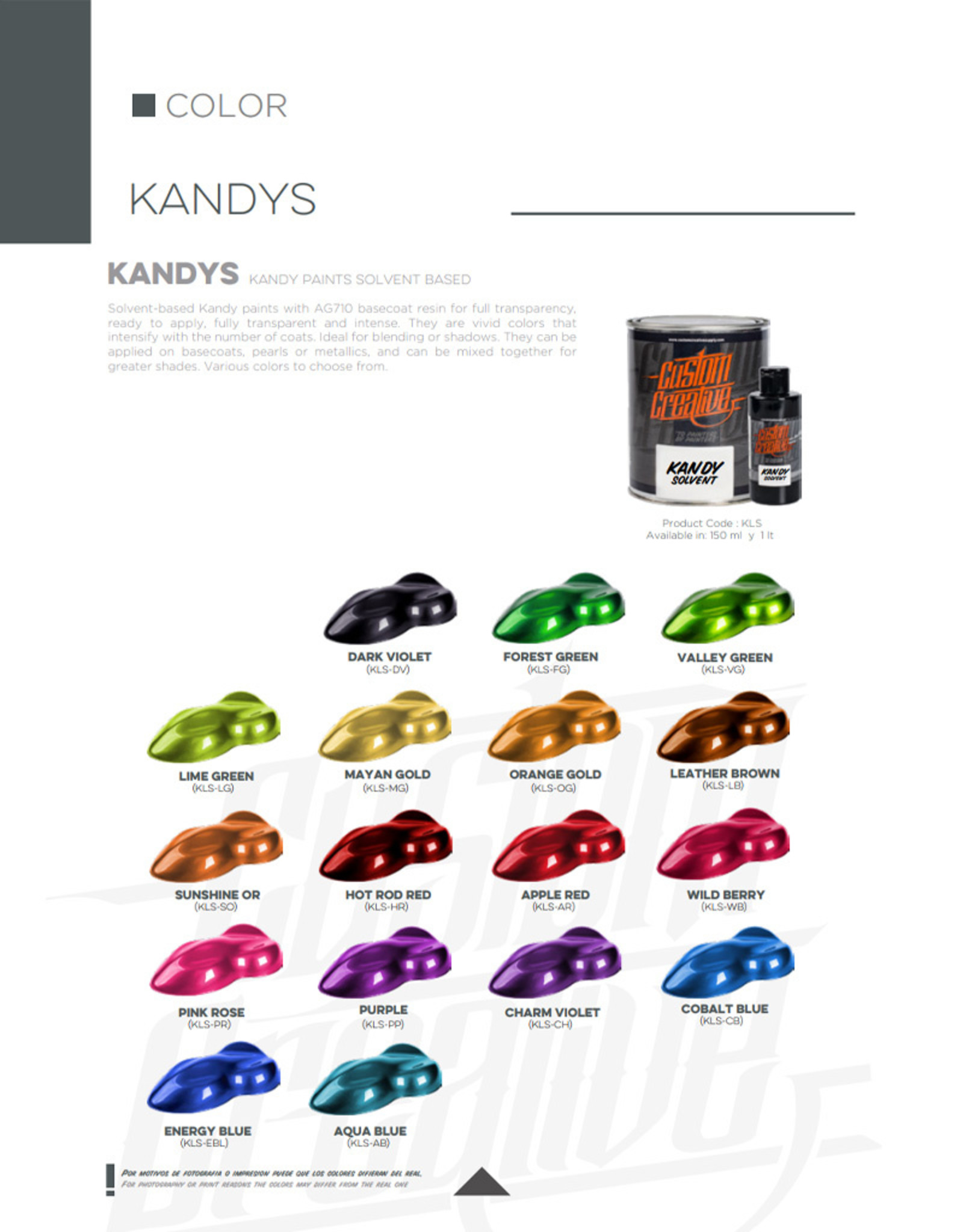 Custom Creative Custom Creative Kandy Solvent - Hot Rod Red