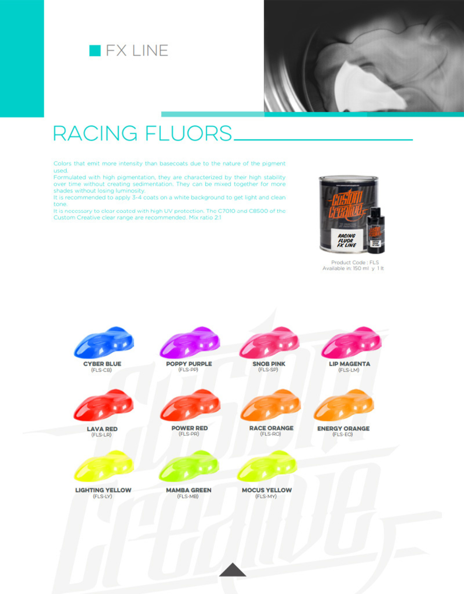 Custom Creative Custom Creative Racing Fluors - Poppy Purple